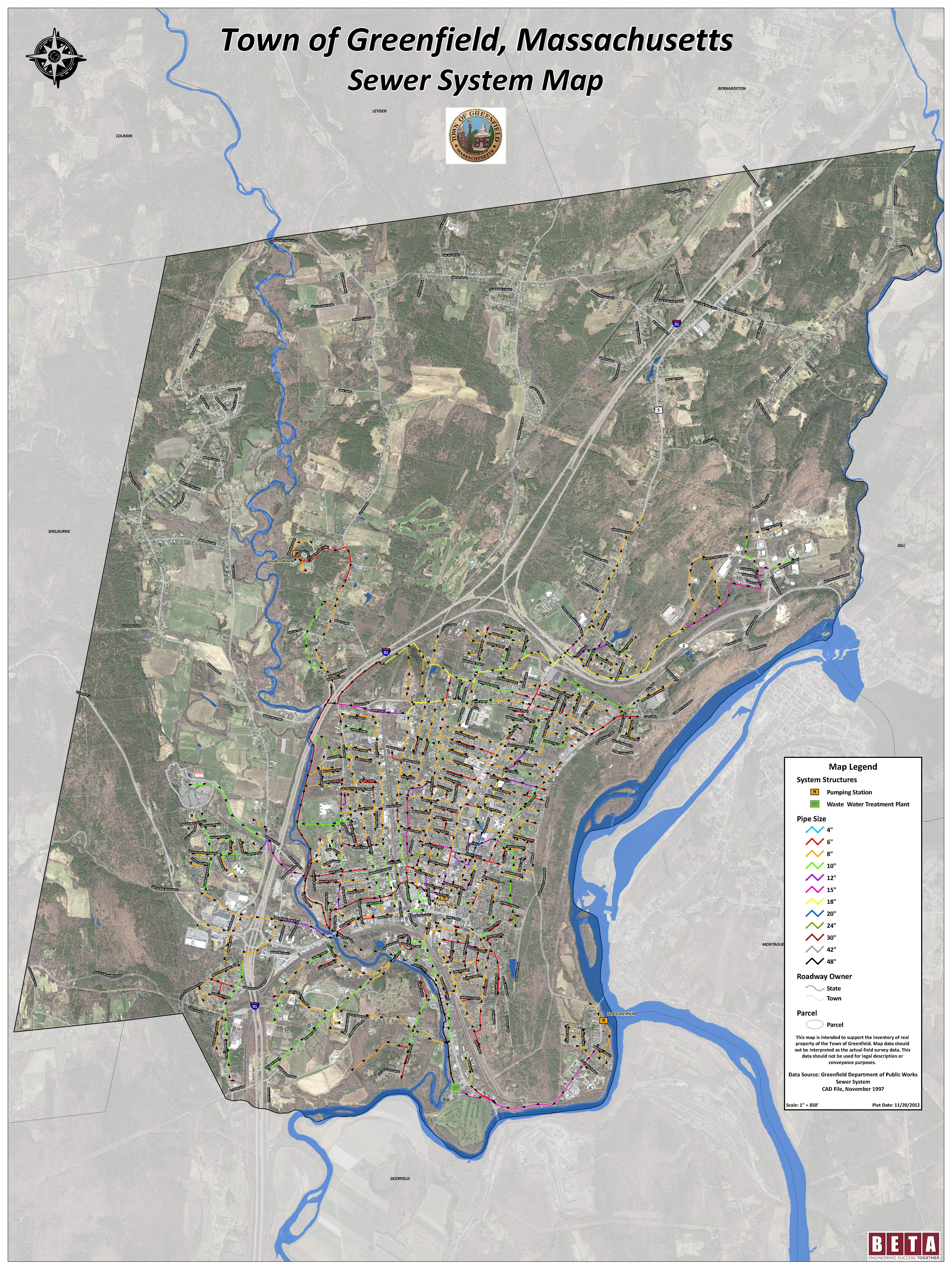 Planning Development GIS Maps Town Of Greenfield MA - Special report us precinct map