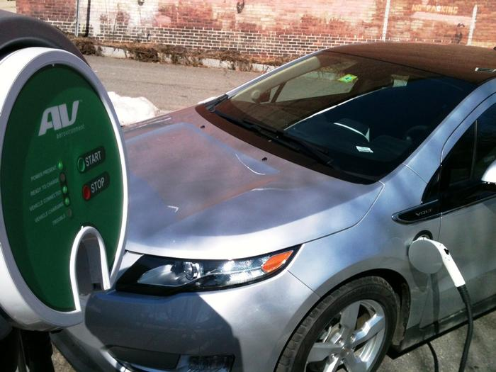 Electric Vehicles Welcome In Olive Street Parking Garage Town Of